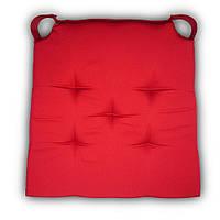 Подушка на стул Кедр на Ливане трапеция новая серия Classic 40x42x4 см Красная (1064)