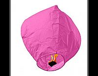 Китайский фонарик небесный купол 1 м розовый