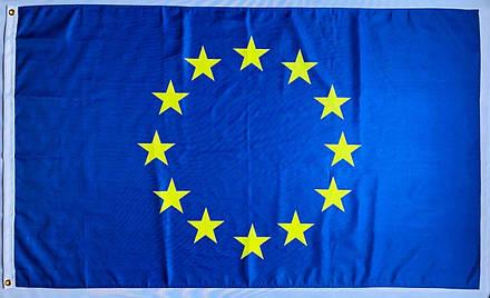 Прапор ЄС - 0.9м*1.5м - Поліестер, фото 2