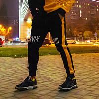 Спортивные штаны Sad Smile черно-желтые, фото 1