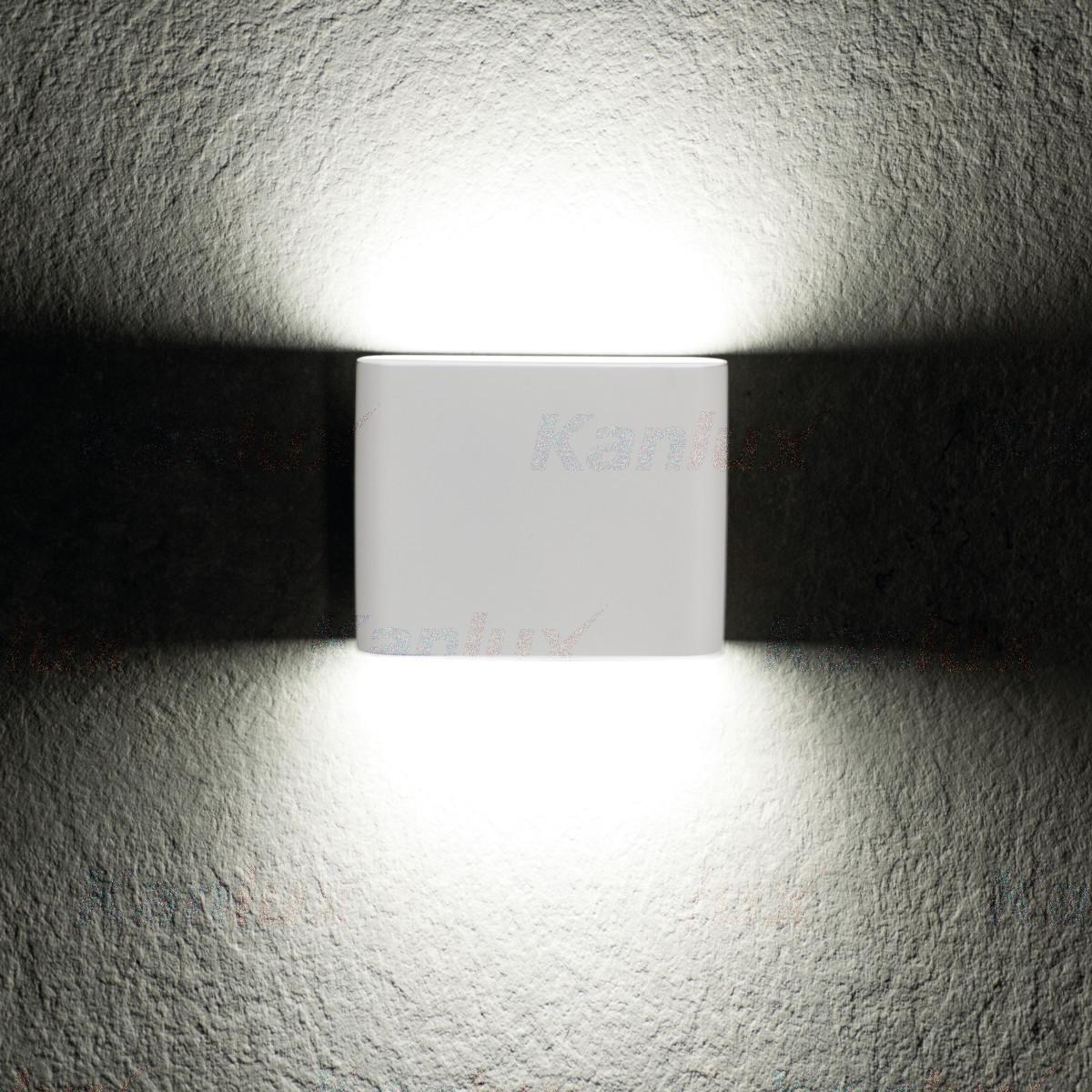 Фасадный светильник Kanlux GARTO LED EL 8W-W белый, IP54