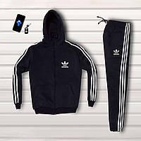 ЛЮКС! Спортивный костюм зимний мужской до - 25*С в стиле Adidas Originals X black