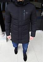 Куртка мужская Emporio Armani H0166 черная длинная, фото 1