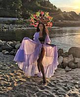 Платье пляжное, туника, парео, накидка на купальник белая