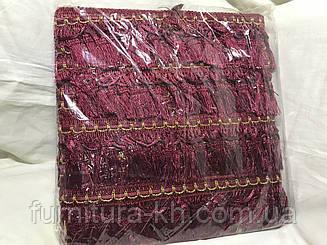 Бахрома 7 см, 16 м в рулоне цвет Бордо