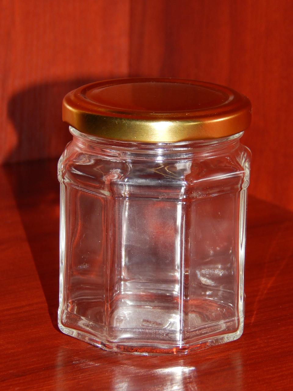 Банка стеклянная 229 мл с горловиной твист 63 мм восьмигранная (20 штук в упаковке) - фото 3