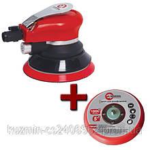 Шлифовальная машина пневматическая эксцентриковая для отделочных работ INTERTOOL PT-1006