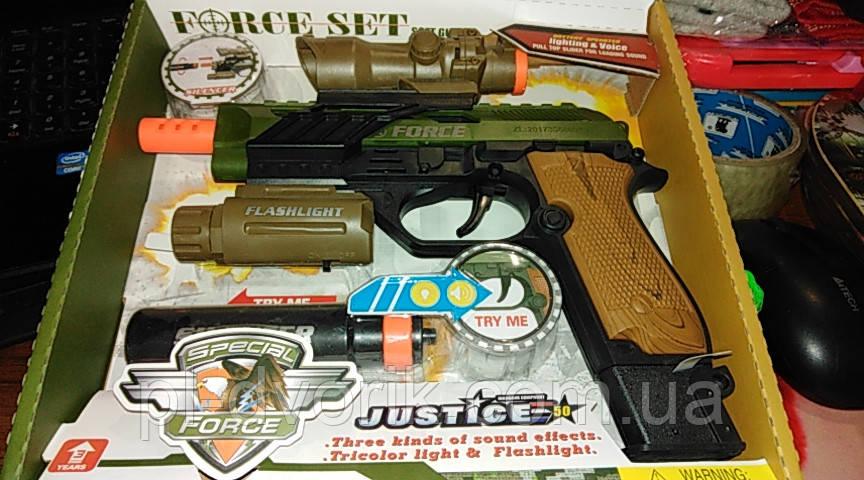 Пістолет 34590 Батар.Муз.Світло.Кор.25*5*23 /72/