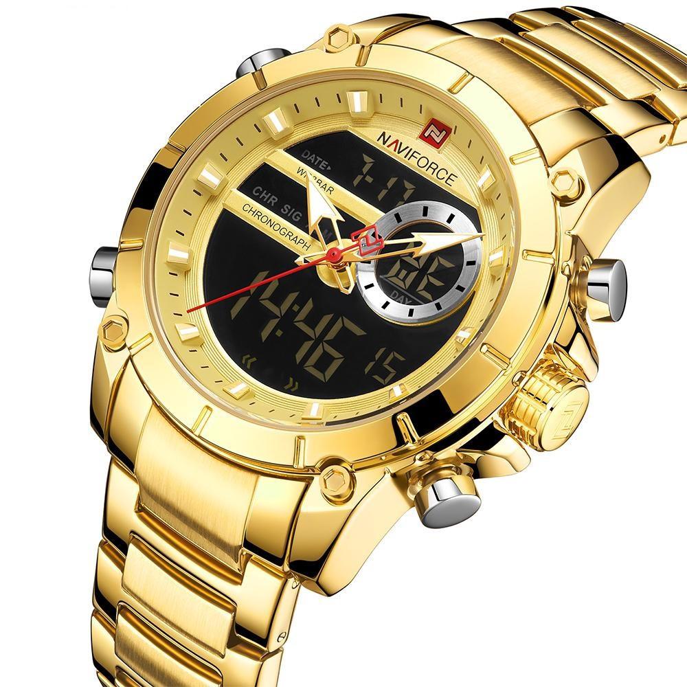 Мужские часы Naviforce 9163 (gold-black)