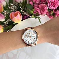 Женские наручные часы Geneva металлические розовое золото