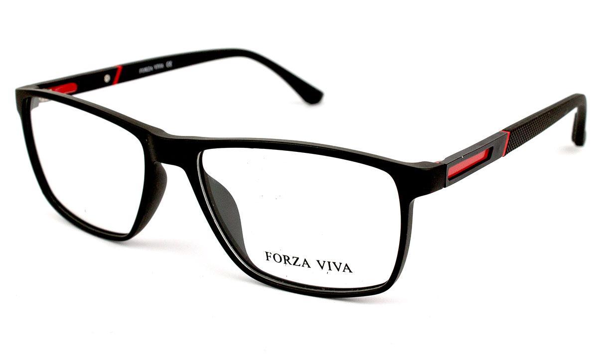 Оправа из пластика и силикона, двухцветная, чёрная с красным, унисекс, Forza Viva