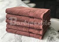 Банное махровое полотенце  цвет коричневый U-70х140