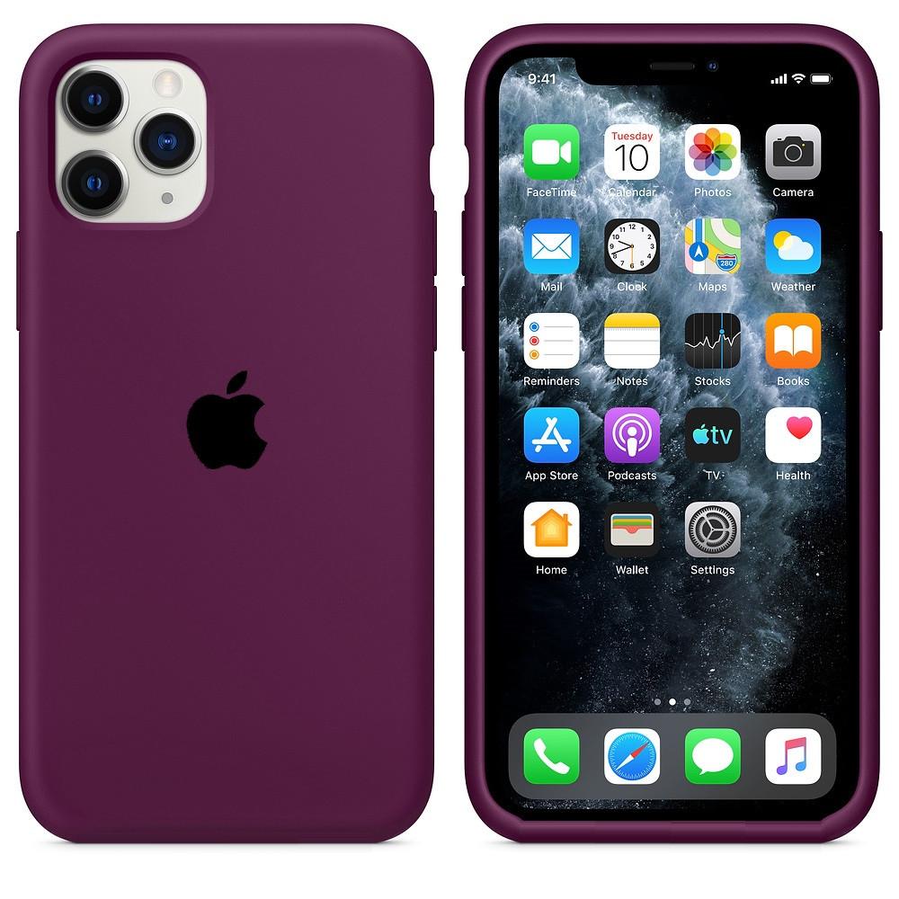 Apple / Чехол накладка xCase для iPhone 11 Pro Max Silicone Case  marsala