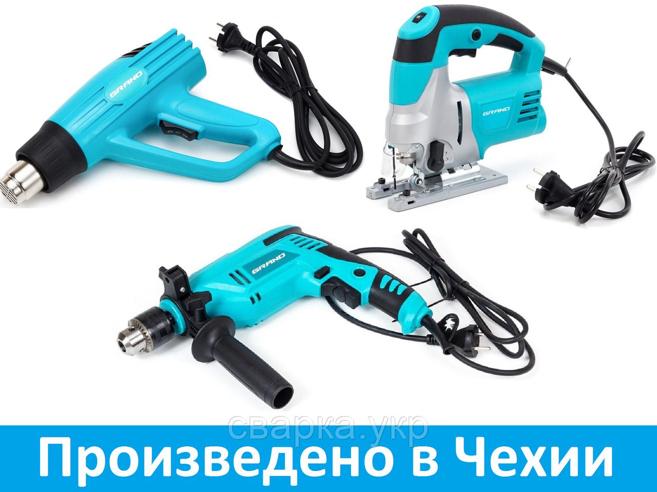 Набор инструментов: Дрель ударная, Фен промышленный, Лобзик электрический