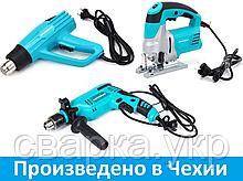 Набір інструментів: Дриль ударний, Фен промисловий, Лобзик електричний