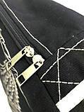 Джинсовый рюкзак КРЫЛЬЯ АНГЕЛА черный, фото 2