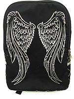 Джинсовый рюкзак КРЫЛЬЯ АНГЕЛА черный, фото 1