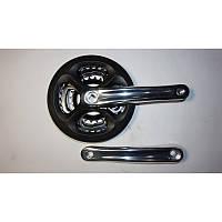 Шатун велосипеда в сборе (модель133, 24-34-42 зуб, алюминиевая)