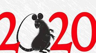 Виниловый магнит. Символ года 2020 года. Год мышки, крысы