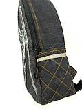 Джинсовый рюкзак КРЫЛЬЯ АНГЕЛА серый, фото 3