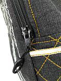 Джинсовый рюкзак КРЫЛЬЯ АНГЕЛА серый, фото 5