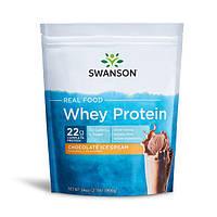 Сывороточный протеин - со вкусом шоколадного мороженого, Real Food Whey Protein - Chocolate Ice Cream Flavor, Swanson, 966 грам
