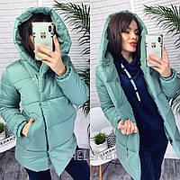 Зимняя женская куртка-зефирка Норма и батал