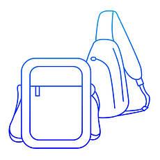 Мужские сумки через плечо, борсетки