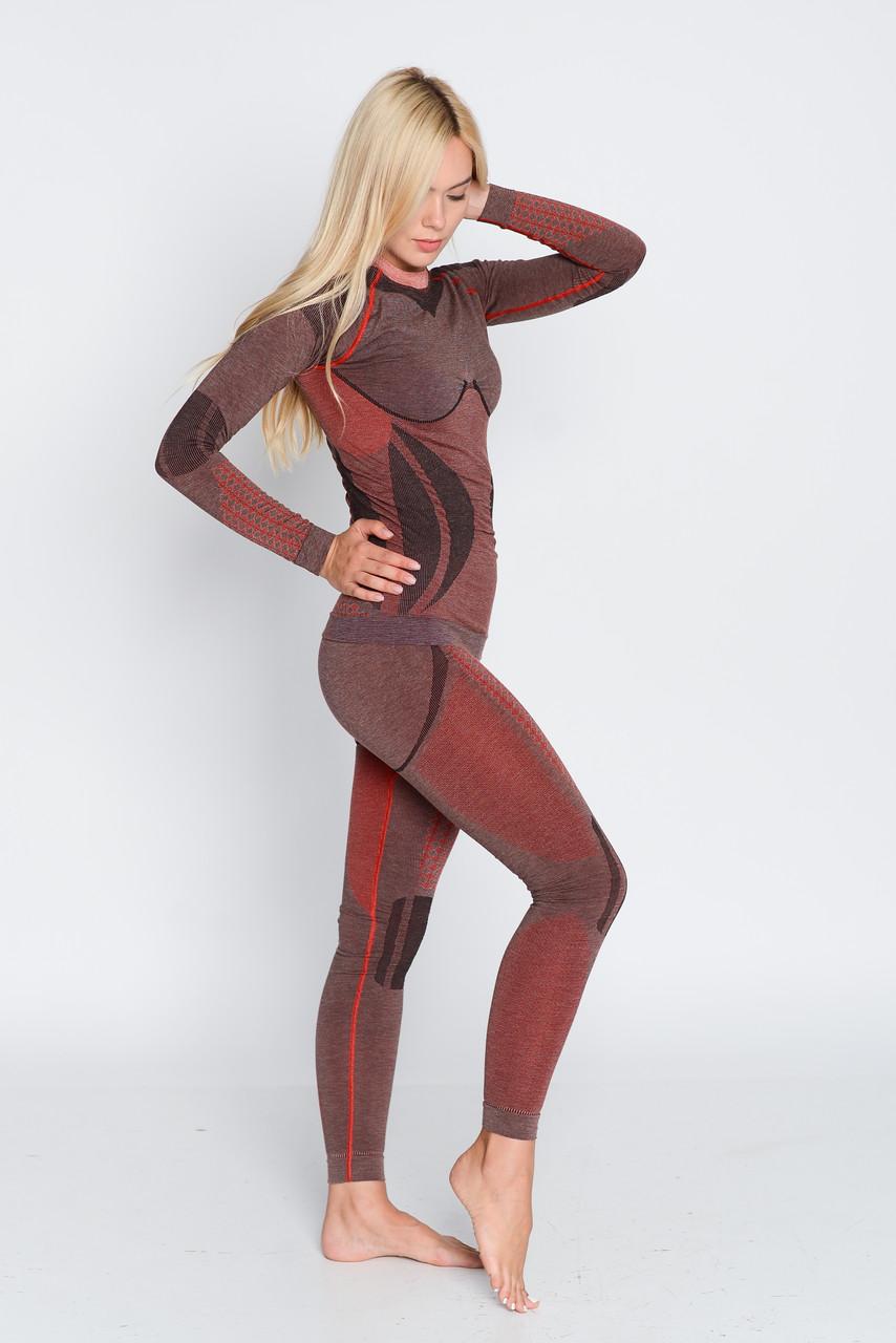 Женские термоштаны с шерстью альпаки HASTER ALPACA WOOL зональное бесшовное шерстяное термобелье SportLavka