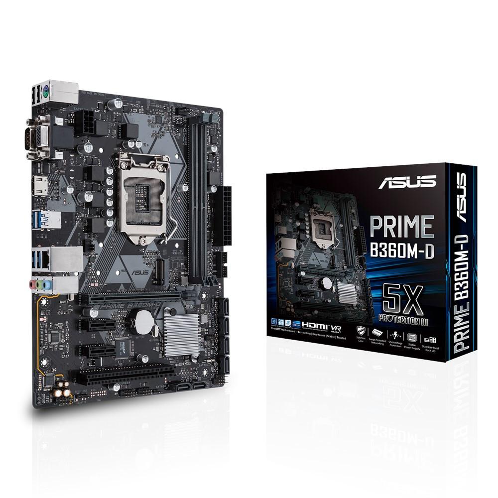 Материнская плата ASUS Prime B360M-D (s1151/B360/MicroATX)
