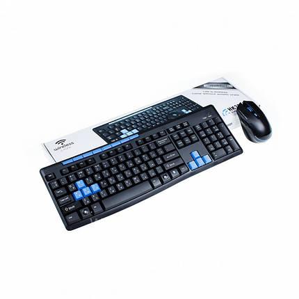 Бездротовий Wireless комплект клавіатура миша HK3800, фото 2