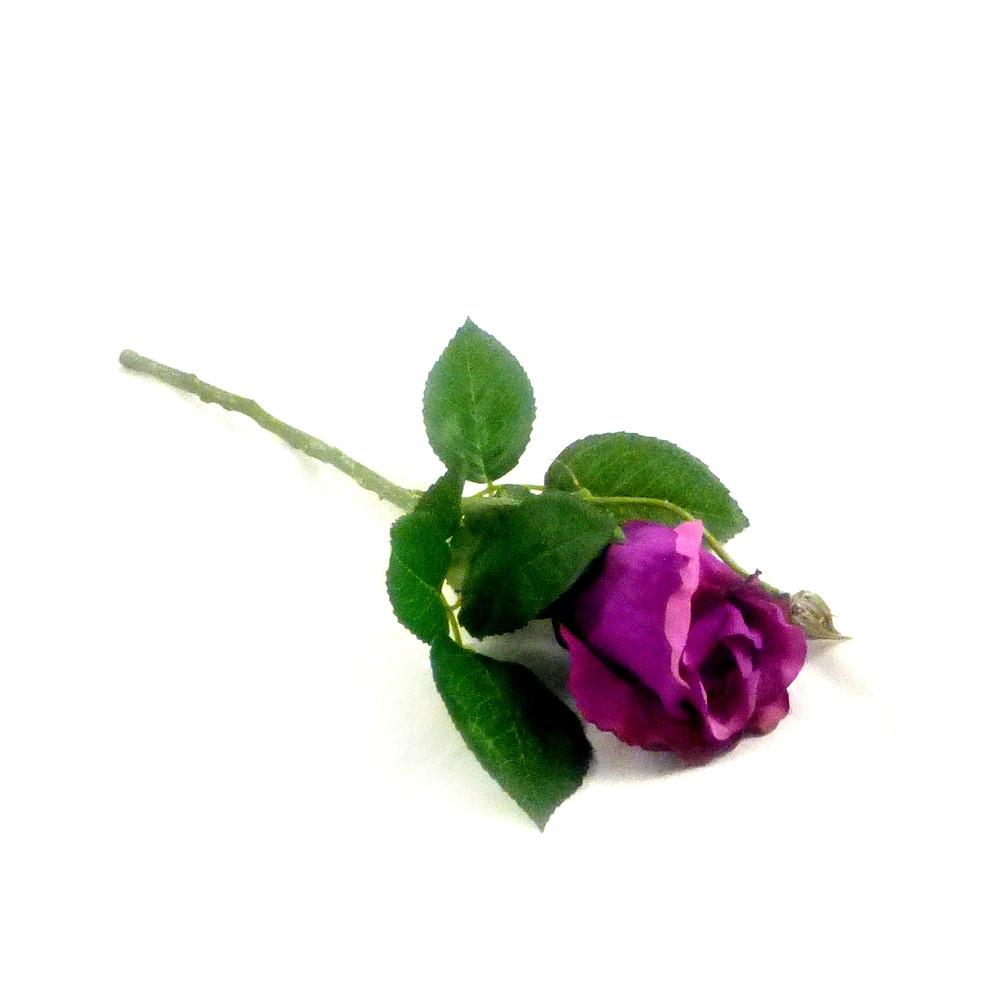 Роза 1 голова натурал 30см пропитка  бутон