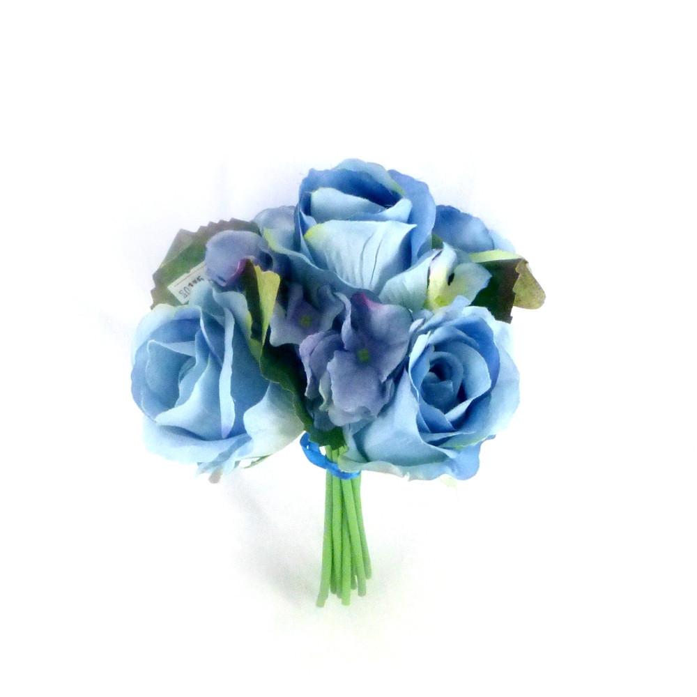 Букет Роза+Гортензия маленький ткань 35 см