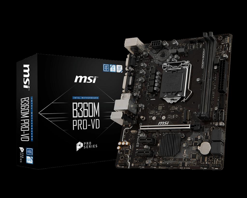Материнская плата MSI B360M Pro VD (s1151/B360/MicroATX)