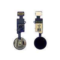 Шлейф для APPLE iPhone 7/ 7 Plus/ 8/ 8 Plus с кнопкой HOME, сенсорная, без Touch ID, черная, универсальная
