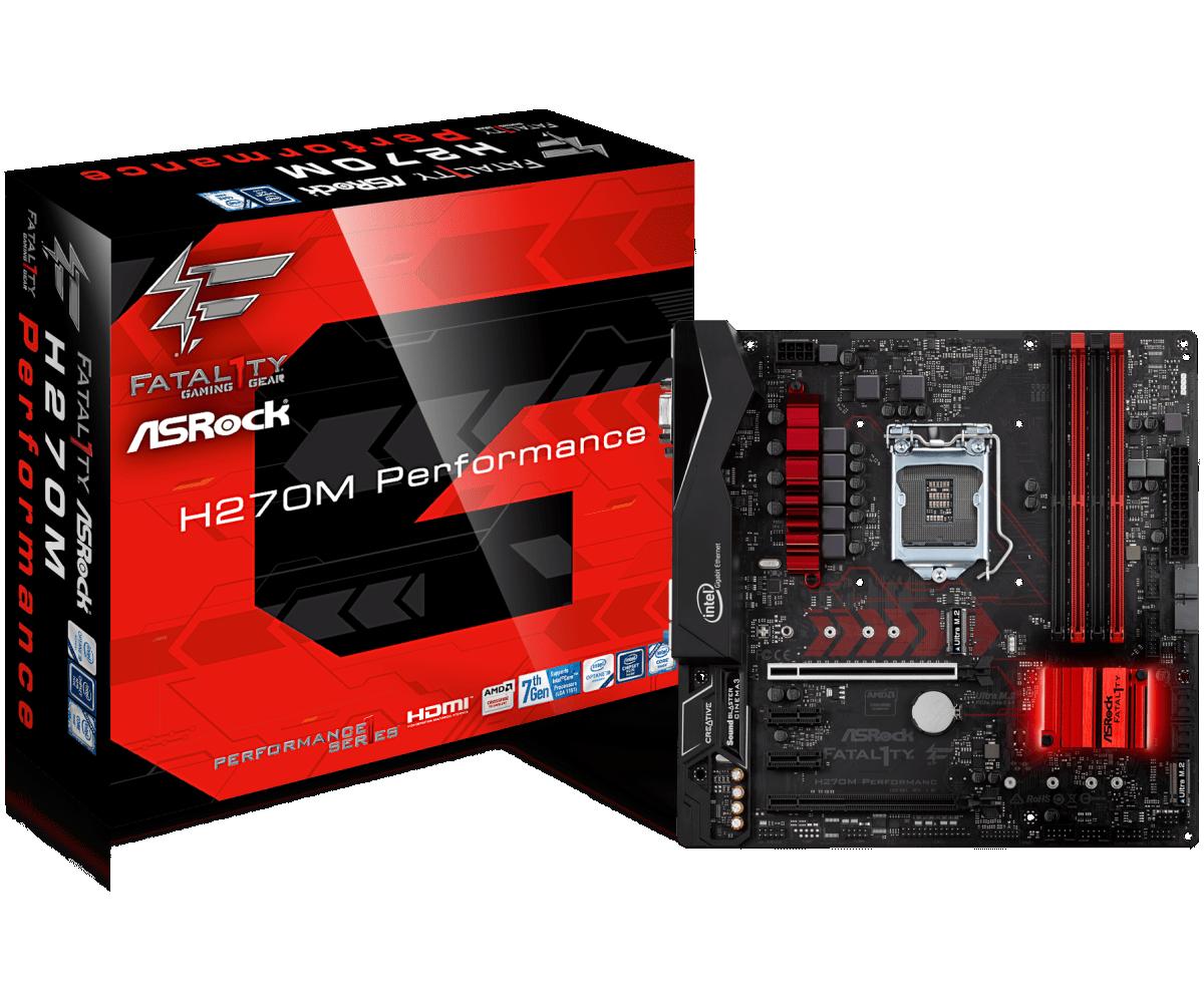 Материнская плата ASRock Fatal1ty H270M Performance s1151/H270/DDR4