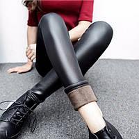 Лосины размеры с S,M,L,XL  зимние кожаные леггинсы размер  М3048