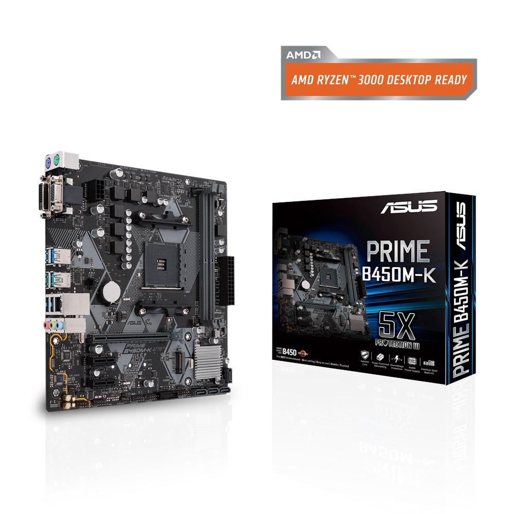 Материнская плата ASUS Prime B450M-K (AM4/B450/DDR4)