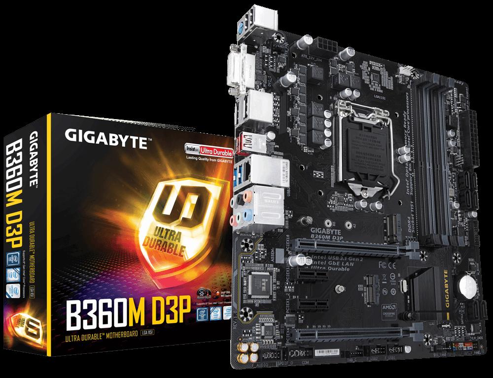 Материнская плата Gigabyte B360M D3P (s1151/B360/DDR4)