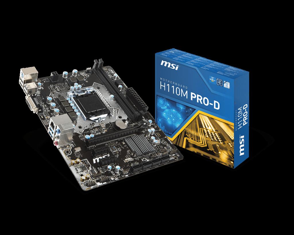 Материнская плата MSI H110M Pro-D (s1151/H110/DDR4)