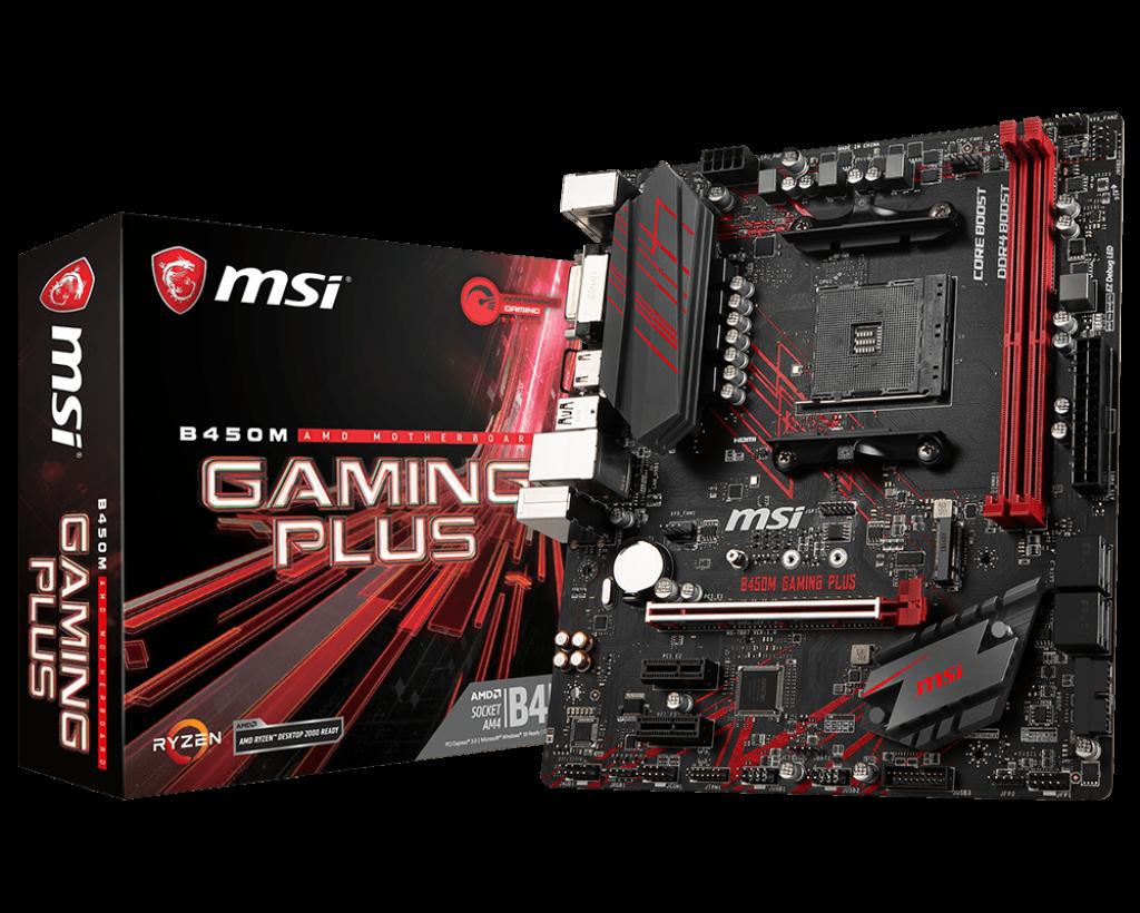 Материнская плата MSI B450M Gaming Plus (AM4/B450/DDR4)
