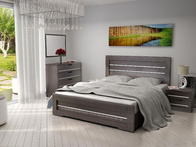 Кровать полуторная Соломия, цвет венге южный