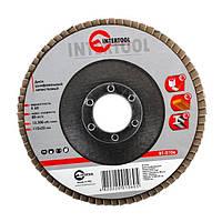 Диск шлифовальный лепестковый 115 * 22мм зерно K60 INTERTOOL BT-0106