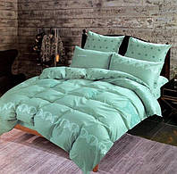 Комплект постельного белья двуспальный Евро Mint Сатин Фабричная Турция