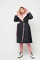 Стильный женский двухсторонний пуховик-одеяло на запах, фото 1
