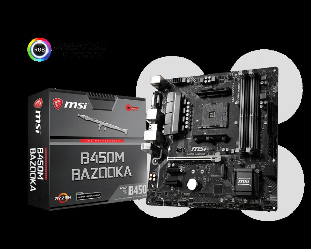 Материнская плата MSI B450M Bazooka (AM4/B450/DDR4)