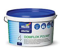 Защитный лак для стен на водной основе полуматовый HELIOS SPEKTRA Domflok Polmat, 2л