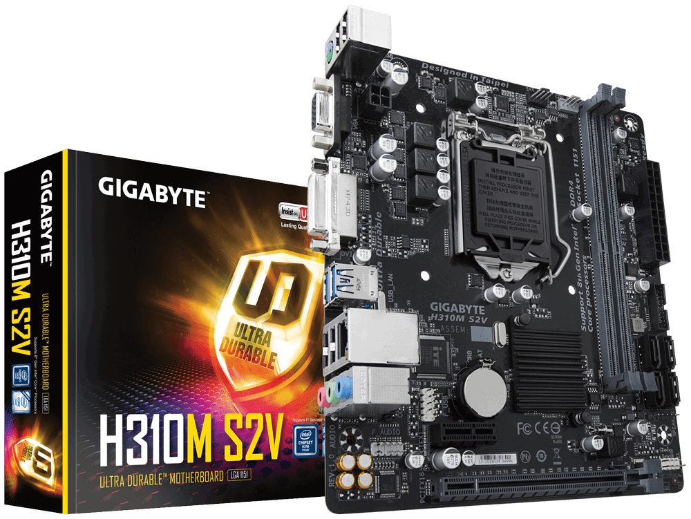 Материнская плата Gigabyte H310M S2V (s1151/H310/DDR4)