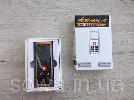 ✔️Лазерный дальномер, рулетка ASAKA X40 Professional 40 м, фото 2