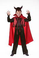 Детский карнавальный костюм для мальчика «Дракула» 120-135 см, черно-красный